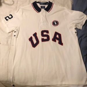US Olympic London 2012 Ralph Lauren Polo size L